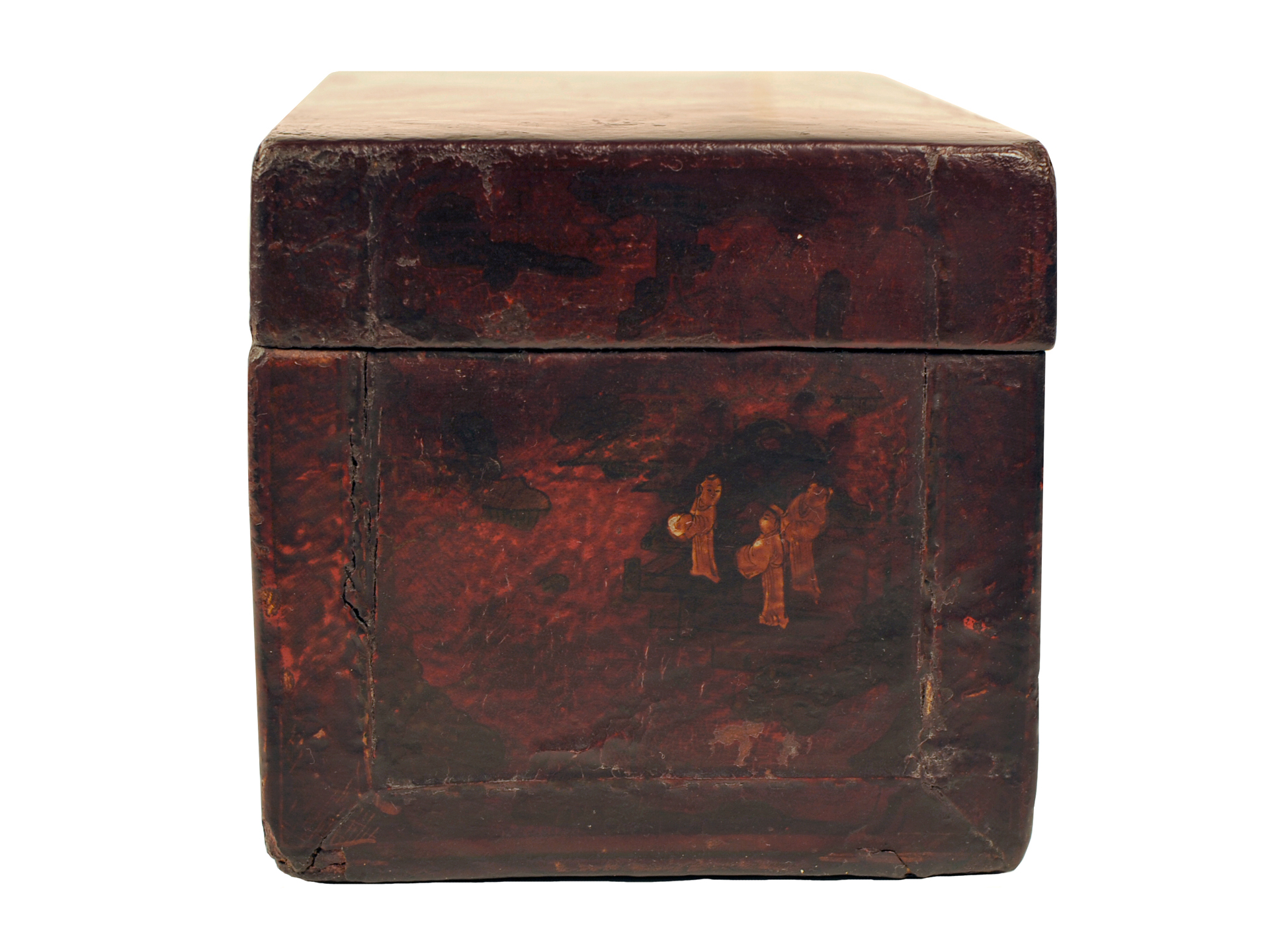 Red Wood Box