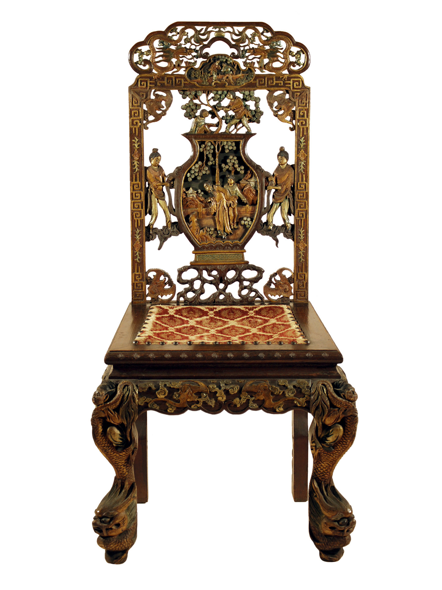 Carved Wooden Dining Chair