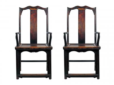Chinese Stained Chairs