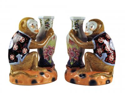 Ceramic Monkey Figurines